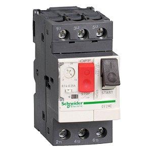 Disjuntor Termomagnético Tesys GV2 1-1.6A Botão Impulsão - GV2ME06 Schneider Electric