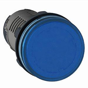 Sinalizador 22mm Led Azul 220V AC - XA2EVM6LC Schneider Electric