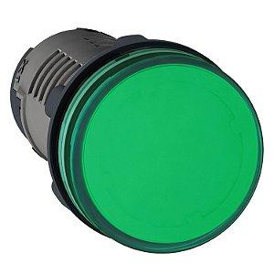 Sinalizador 22mm Led Verde 220V AC - XA2EVM3LC Schneider Electric