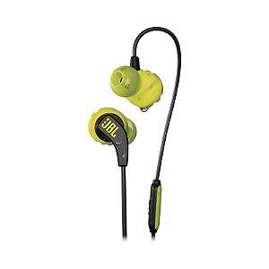 Fone de Ouvido Esportivo JBL Endurance Run Microfone Preto Amarelo