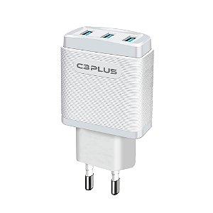 Carregador AC/USB Universal C3Plus 3,1A UC-30WH