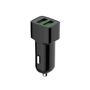 Carregador Veicular C3TECH com 2 USB 2,4A UCV-20BK