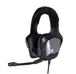 Fone de Ouvido Headphone HP com Microfone Game 7.1 USB H220GS Preto LED