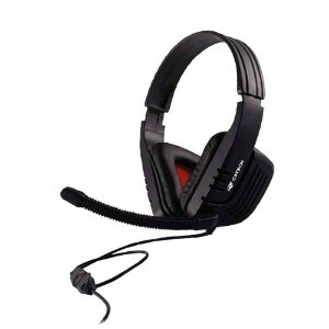 Fone de Ouvido Headphone C3TECH Gaming com Microfone Game MI-2558RB Preto