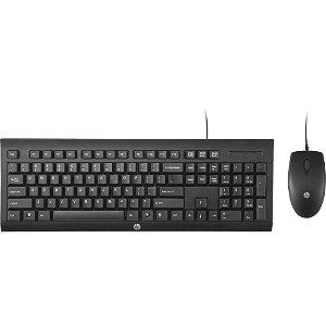 Kit Teclado + Mouse com Fio USB HP C2500 J8F15AA#AC4 Preto