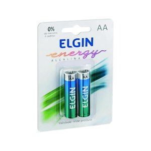 Pilha Alcalina AA 1,5 V  Elgin Blister com 2 unidades
