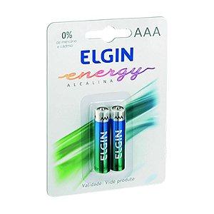Pilha Alcalinha AAA 1,5 V Elgin Blister com 2 unidades