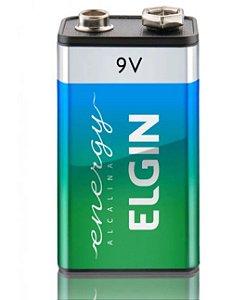 Bateria Alcalina 9 V Elgin Blister com 1 unidade