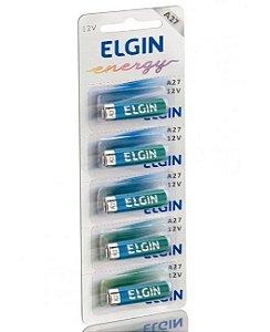 Pilha Alcalina A27 - 12V Elgin Cartela com 5 unidades