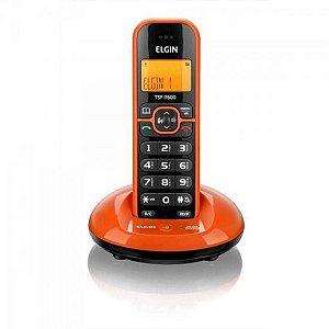 Telefone sem Fio Elgin com Identificador de Chamadas, Viva Voz TSF 7600 Laranja