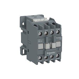 Contator Tripolar Tesys E 12A 1NA 110Vca-50/60Hz - LC1E1210F7 Schneider Electric