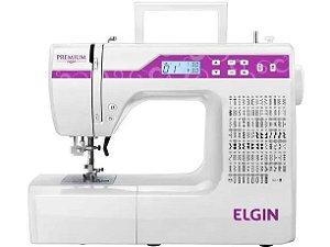 Máquina de Costura Elgin JX-10000 Premium Branca com Rosa Bivolt