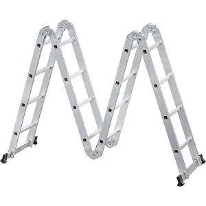 Escada Articulada em Alumínio 16 Degraus Vonder 4 x 4