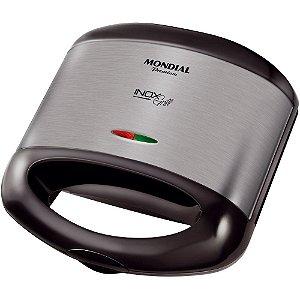 Grill e Sanduicheira Mondial Premium Inox 220v