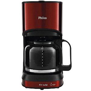 Cafeteira Elétrica Philco PCF41 Inox/Vermelho 127V