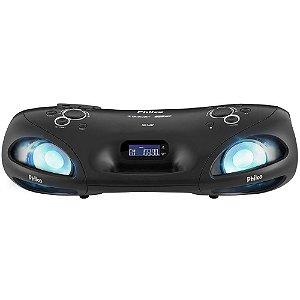 Caixa de Som Bluetooth Philco Boombox 25 RMS PBO140BT Preta Bivolt