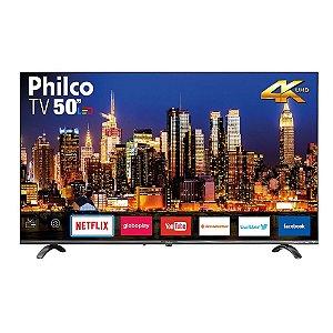 "Smart TV LED 50"" Philco PTV50Q20SNBL Ultra HD 4k Áudio Dolby 4 HDMI 2 USB Wi-Fi 60Hz"