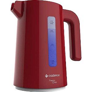 Chaleira Elétrica Cadence Thermo One Colors 1,7 Litros Vermelha 127V
