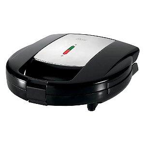 Sanduicheira Waffle Oster Chrome Preto e Prata 127V