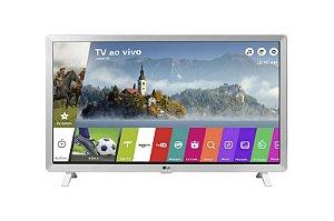 Smart TV Monitor 24 LG 24TL520S HDMI USB Wifi WebOS 3.5 Branca
