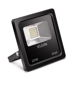 Refletor de Led Elgin IP65 10W 6500K Bivolt Preto