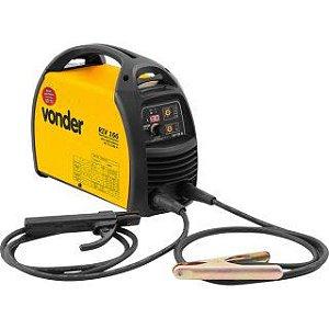 Inversor para Solda Elétrica Vonder Com Display Digital RIV166 Amarelo/Preto Bivolt