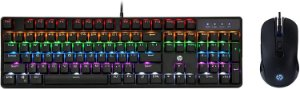 Kit Teclado + Mouse com fio HP USB Gaming Mechan GM200 Preto
