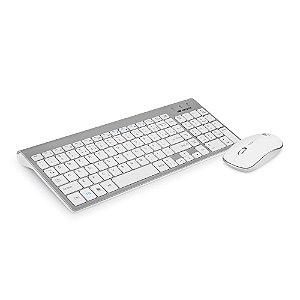 Kit Teclado + Mouse sem Fio C3Tech  K-W510SWH Branco