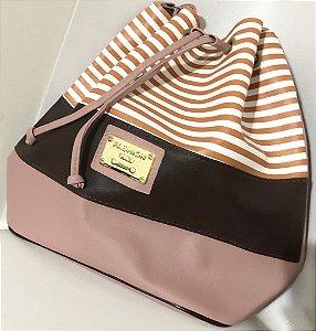 Bolsa Saco Master - Rosé com Café