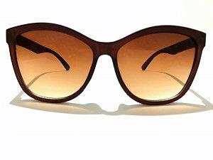 Óculos Solar Feminino Gatinho Discreto  - Marrom