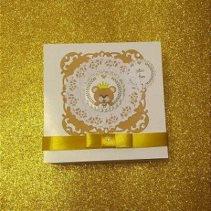 Convite caixinha 14x14x5cm