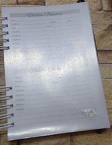 Bolso plástico(canguru) para agenda, planner, devocional e caderno