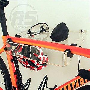 Suporte para pendurar bicicleta , óculos, capacete e acessórios | Transparente | Modelo Square