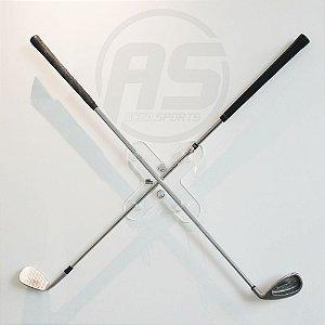Suporte para tacos de golfe | Transparente | Modelo X