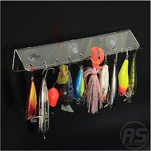 Organizador de iscas | Para barco | Transparente | Modelo Lambari