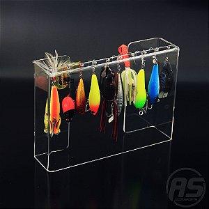 Organizador de iscas | Para barco | Transparente | Modelo Robalo Peva