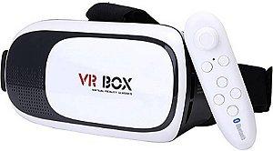 Oculos De Realidade Virtual 3d + Controle Bluetooth - Vr Box