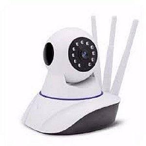Câmera Wireless Ip Hd720p Noturna Sensor Infravermelho Wifi 3 antenas