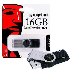 Pen Drive 16 Gb Kingston Data Traveler 101 Usb 2.0