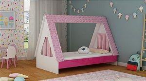Cama Solteiro Infantil  Cabaninha - Pink