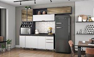 Kit Cozinha Henn Decore II - Grafite HP / Branco HP
