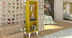 Livreiro Twister - Amarelo / Branco
