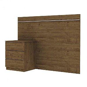 Cabeceira Box Solteiro 0.90 Veronna - Imbuia Rustico