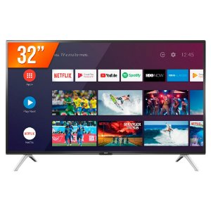 "Smartv TV 32"" Wi-Fi LED Android 32S5300 - SEMP"