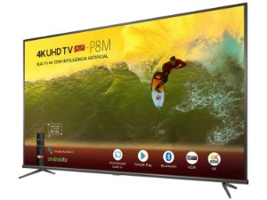 "Smart TV 4K LED 50""  50P8M Android Wi-Fi  Inteligência Artificial - TCL"