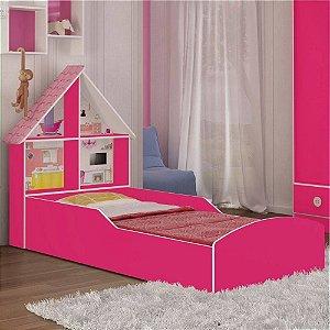 Cama Infantil Casinha 90cm Rosa Gelius