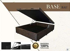 Base Box de Casal 138 cm com Baú Swede Marrom VJOY