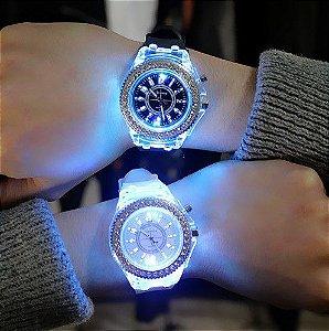 Relógio feminino Silicone LED Luminoso