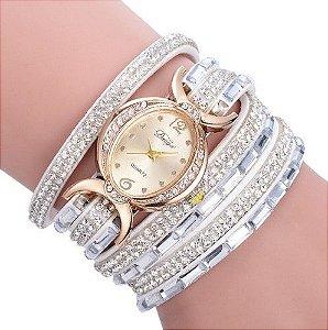 Relógio De Quartzo para As Mulheres pulseira em cristal