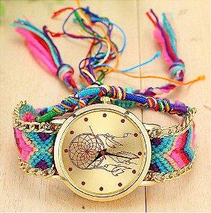 Relógio Quarzt Dropshipping Handmade Trançado a mão da amizade